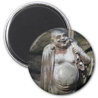 Frotamiento del Belly del Buda de risa para la sue Imán Redondo 5 Cm