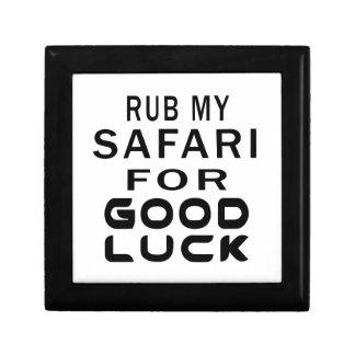 Frote mi gato del safari para la buena suerte caja de regalo
