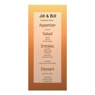 Frugal económico económico de la tarjeta del menú