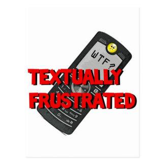Frustrado textual postal