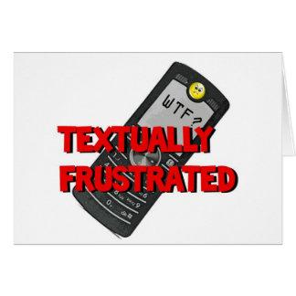 Frustrado textual tarjeta de felicitación
