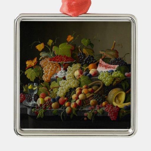 Fruta abundante, 1858 (aceite en lona) adornos de navidad