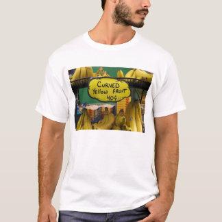 fruta amarilla curvada camiseta