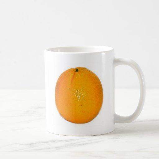 Fruta anaranjada taza de café