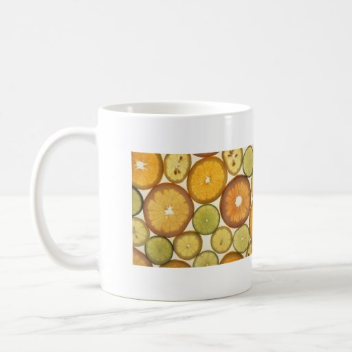 fruta cítrica tazas de café