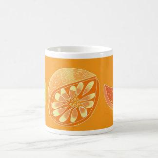 fruta cítrica taza básica blanca