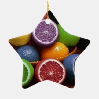 Fruta colorida ornamentos de reyes