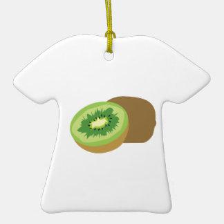 ¡Fruta de kiwi! Adorno De Cerámica En Forma De Camiseta
