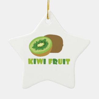 Fruta de kiwi adorno de cerámica en forma de estrella