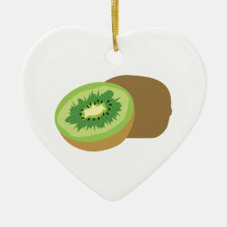 ¡Fruta de kiwi! Adorno De Cerámica En Forma De Corazón