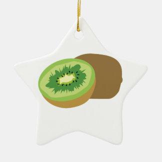 ¡Fruta de kiwi! Adorno De Cerámica En Forma De Estrella