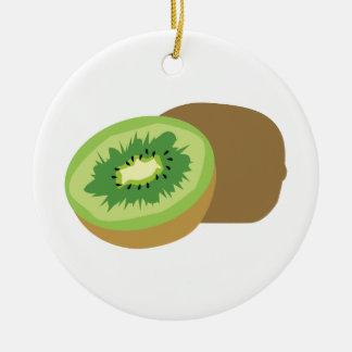 ¡Fruta de kiwi! Adorno Redondo De Cerámica