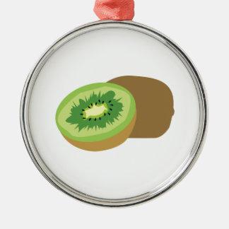 ¡Fruta de kiwi! Adorno Redondo Plateado