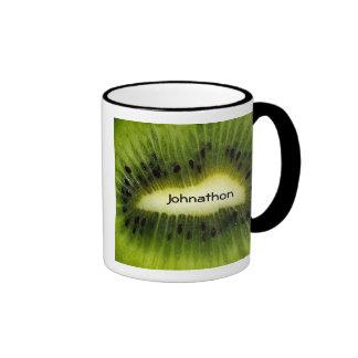 Fruta de kiwi taza a dos colores