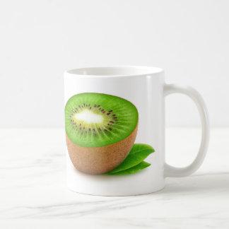 Fruta de kiwi taza de café