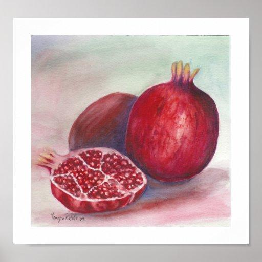 fruta de la granada póster