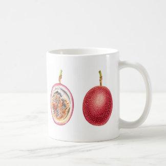 Fruta de la pasión roja de Lilikoi Tazas De Café