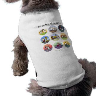 Fruta de la ropa del mascota del alcohol camiseta sin mangas para perro