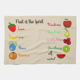 Fruta de la toalla de cocina del alcohol