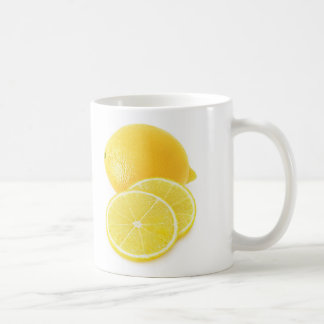 Fruta del limón taza de café