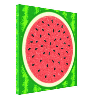 Fruta del verano de la rebanada de la sandía con impresion en lona