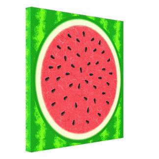 Fruta del verano de la rebanada de la sandía con lona estirada galerias