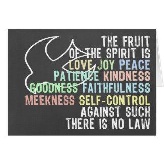 Fruta del verso de la biblia de la mirada de la tarjeta