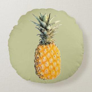 fruta-ejemplo amarillo de la piña cojín redondo