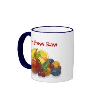 fruta taza a dos colores