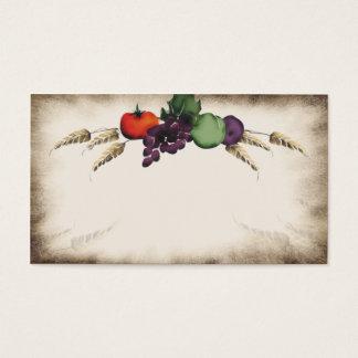 Fruta toscana del trigo que cocina la tarjeta de