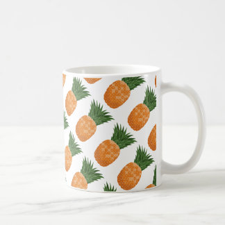 Fruta tropical de la taza del modelo de la piña de
