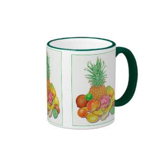 Fruta tropical tazas de café