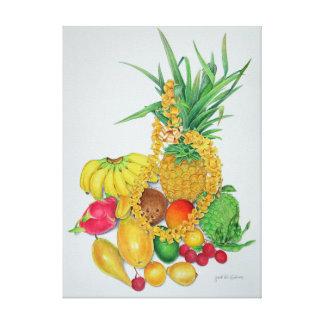 Fruta tropical y leus lienzo