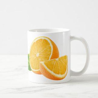 Frutas anaranjadas taza