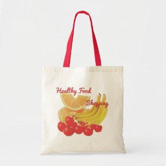Frutas coloridas sanas: Naranjas, plátanos, bayas Bolso De Tela