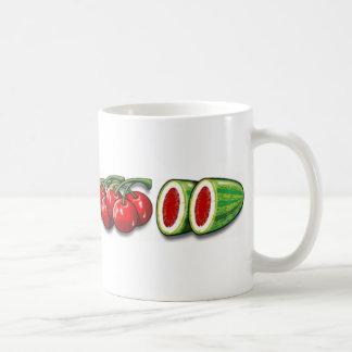 Frutas del carrete tazas de café