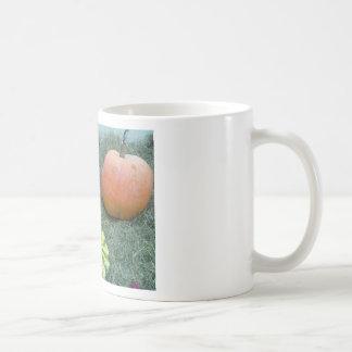 frutas del otoño de la caída de la calabaza taza
