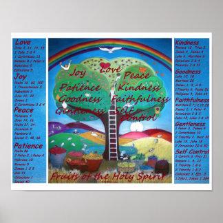 Frutas del poster con versos - tamaño del alcohol  póster