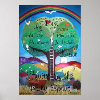 Frutas del poster del Espíritu Santo Póster