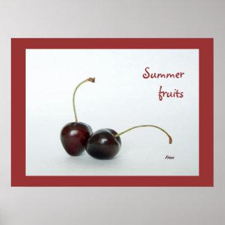 frutas del verano póster