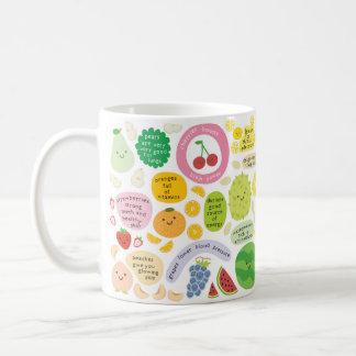 Frutas felices taza de café
