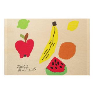 Frutas Impresión En Madera