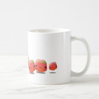 Frutas lindas tazas de café
