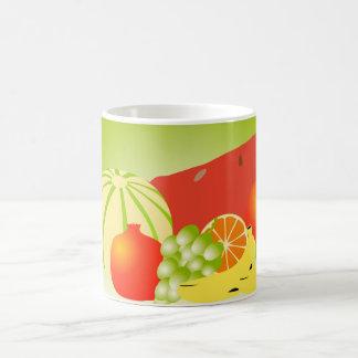 frutas taza básica blanca