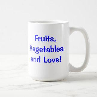 ¡Frutas, verduras y amor! Tazas De Café