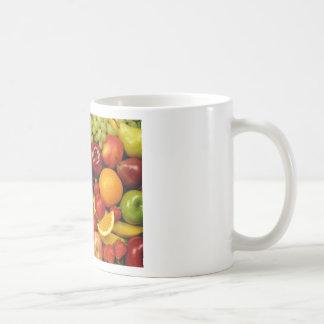 frutas y frutas taza de café