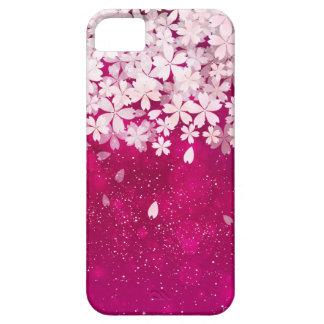 Fucsia de las flores de cerezo de Sakura y flores Funda Para iPhone SE/5/5s