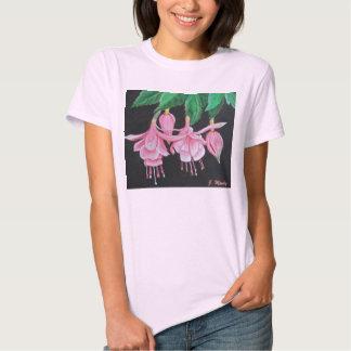 Fucsia floreciente camiseta
