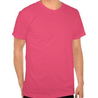 Fucsia sano de la camiseta de los hombres de la