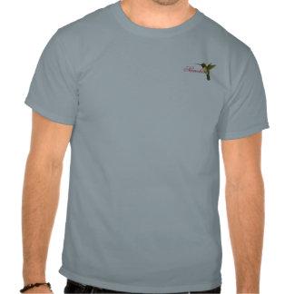 Fucsias y colibrí tropicales pintados camisetas